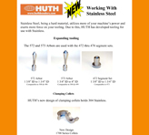 Huth Stainless Steel Tooling