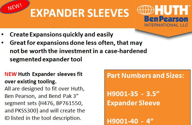 NEW Expander Sleeve Tooling from Huth