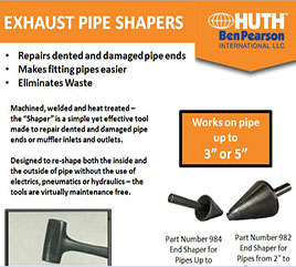 Huth's Exhaust Pipe Shapers