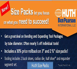 Huth's NEW Size Packs