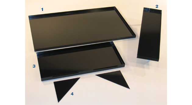 Tool Trays for Models BPC-09, BP-08 & BPC-12, BP-11