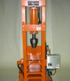 Vertical Swage Press wiith Custom Tooling